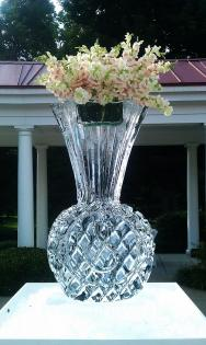 Flowers in an Ice Sculpture Vase