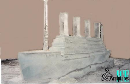 This magnificent Titanic ice sculpture was executed by the very talented Louisville Ice Sculptures.